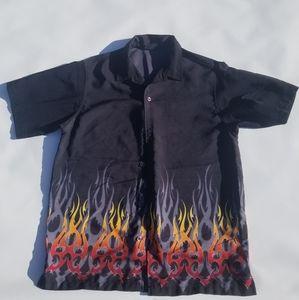 Men's Vintage Extreme Gear Flame Shirt EUC